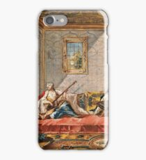 Francesco Guardi  - Two Odalisques Playing Music In The Harem 1742.  Guardi - woman portrait. iPhone Case/Skin