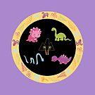 Dinamic Girls Collection - Girl Dinosaur Design by Amanda Voris