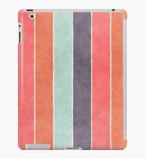 Trendy Tropical Watercolor Stripes iPad Case/Skin