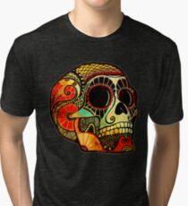 Grunge Skull Tri-blend T-Shirt