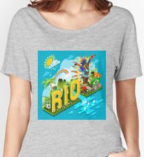 Brasil Rio Summer Infographic Isometric 3D Women's Relaxed Fit T-Shirt