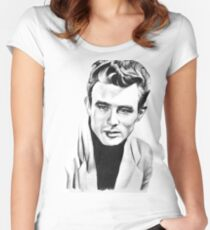 Classic actor Graphite pencil portrait Women's Fitted Scoop T-Shirt