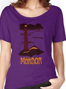 Mordor vintage travel poster Women's Relaxed Fit T-Shirt
