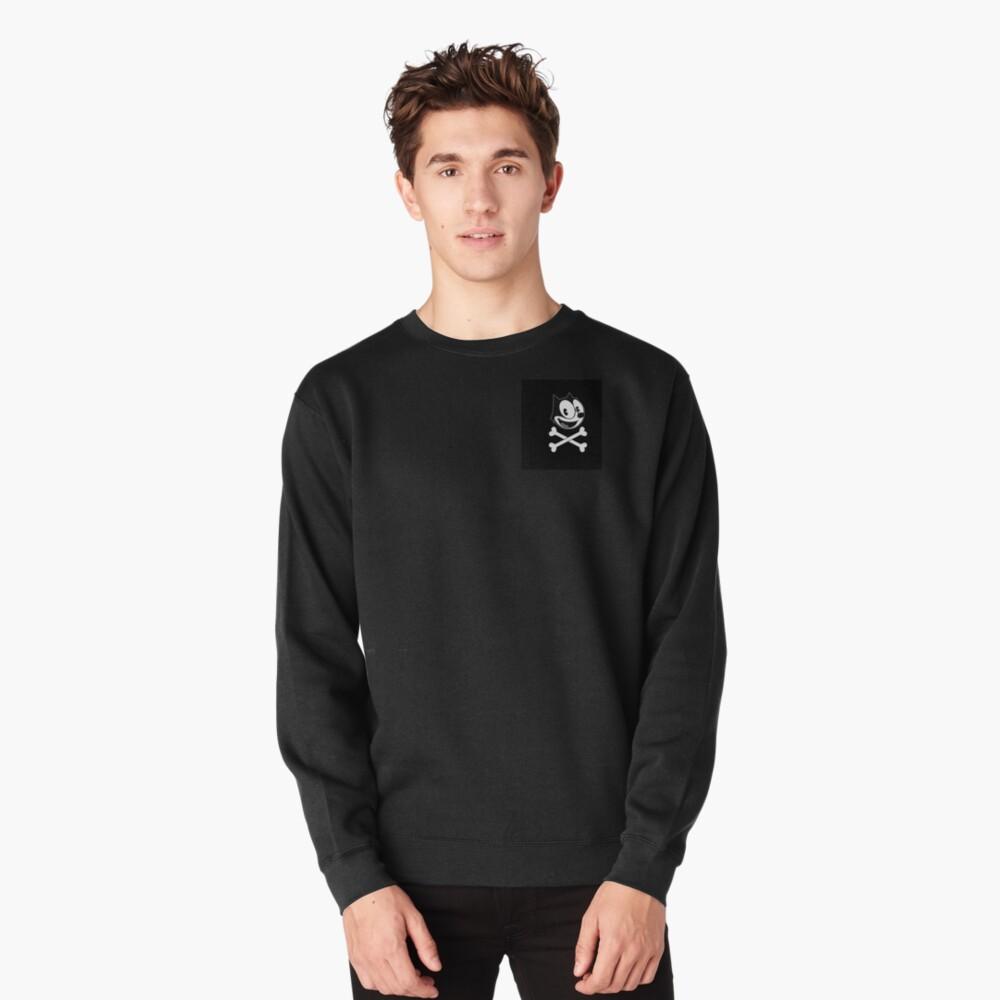 Felix the cat skull Pullover Sweatshirt