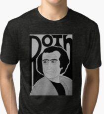 Philip Roth 70's Portrait Tri-blend T-Shirt