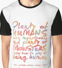 "VICIOUS QUOTE | ""HUMANS & MONSTERS"" Graphic T-Shirt"