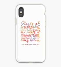"""VICIOUS QUOTE   """"HUMANS & MONSTERS"""" iPhone Case"""