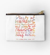 "VICIOUS QUOTE | ""HUMANS & MONSTERS"" Studio Pouch"