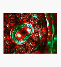 Abstract luxury ornate sparkle red and green bright pattern. Brilliant ornament background.  Photographic Print