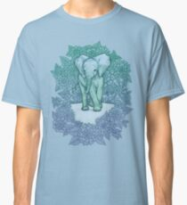 Emerald Elephant in the Lilac Evening Classic T-Shirt