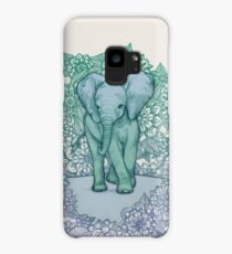 Emerald Elephant in the Lilac Evening Case/Skin for Samsung Galaxy