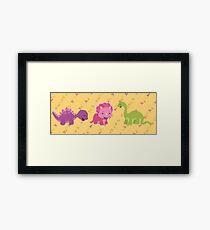 Dinamic Girls Collection - Girl Dinosaur Design Framed Print