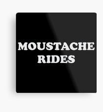 Moustache Rides Metal Print