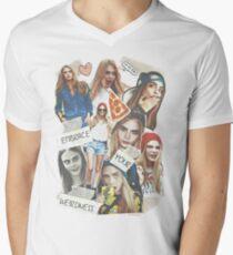 Cara Delevingne Men's V-Neck T-Shirt
