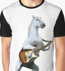 Guitar Horse Graphic T-Shirt
