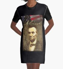 Abraham Lincoln Graphic T-Shirt Dress