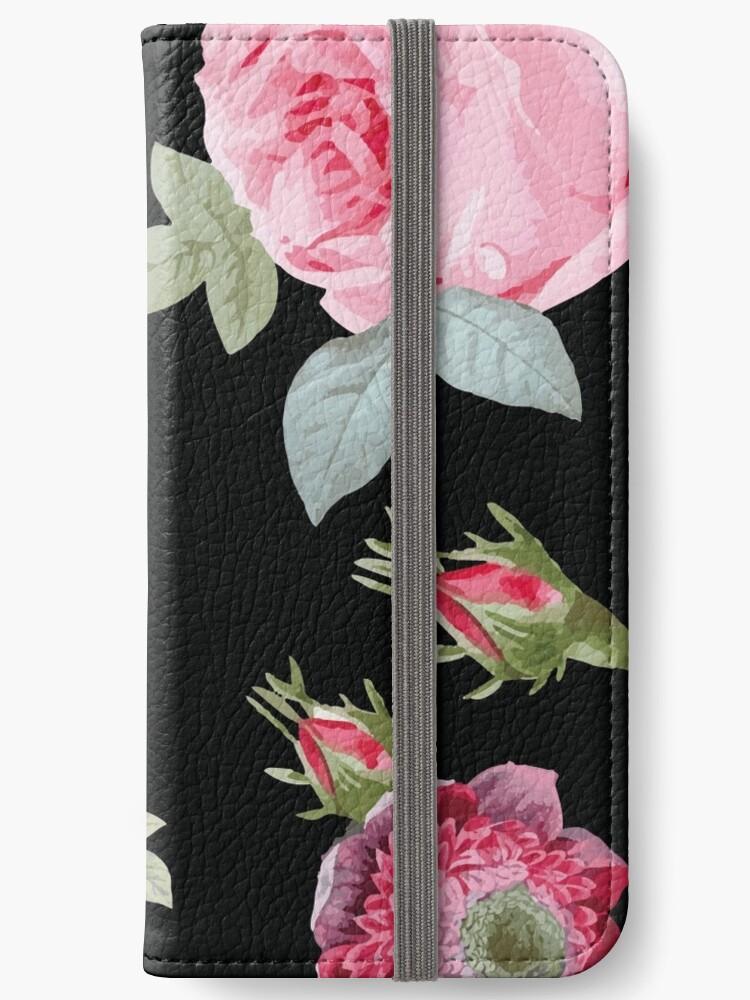 Rosa und Schwarz Botanischer Blumen von Heureux Lifestyle