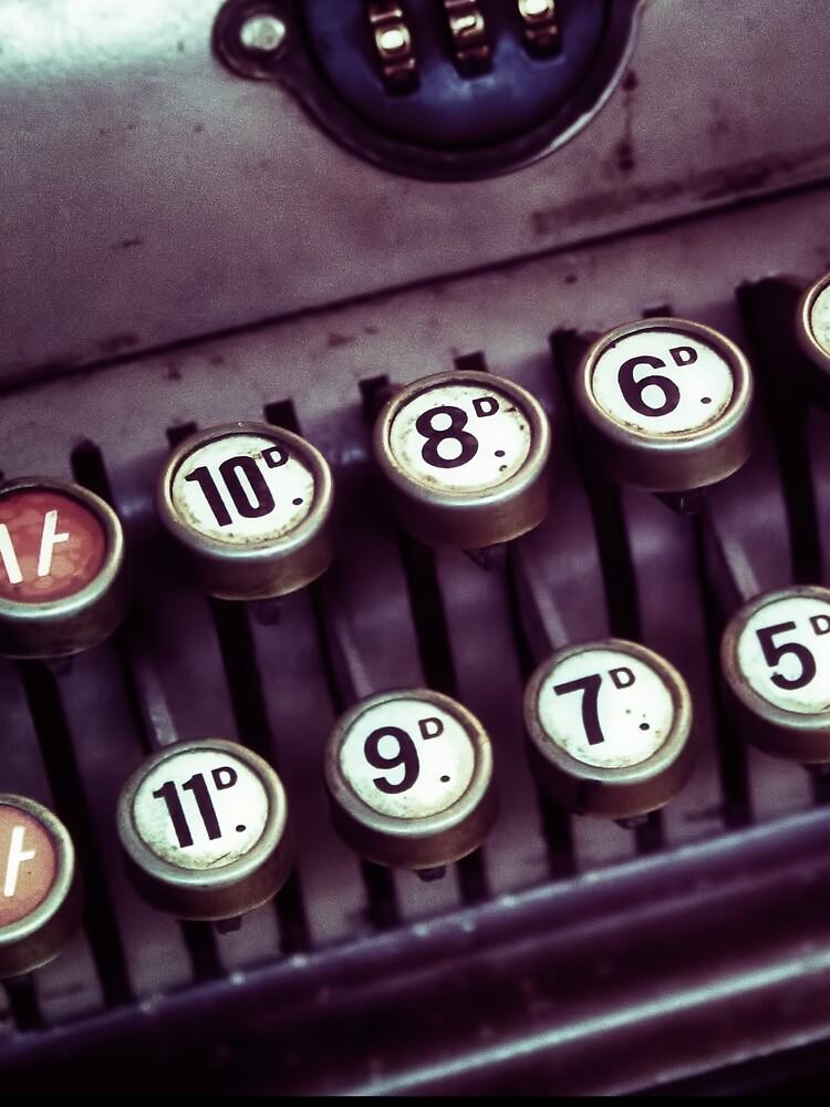 Vintage Cash Register by InspiraImage