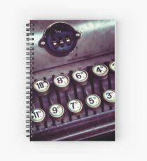 Vintage Cash Register Spiral Notebook