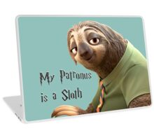 My Patronus is a Sloth Laptop Skin