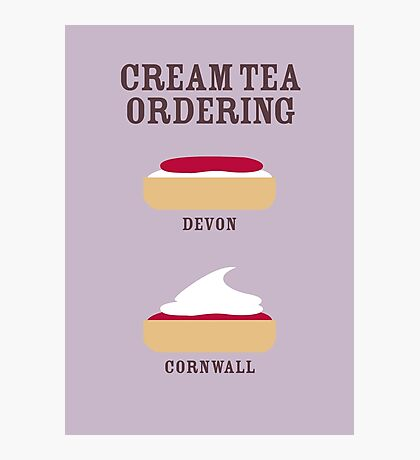 CREAM TEA ORDERING Photographic Print