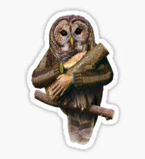 The owls are not what they seem Sticker