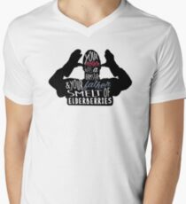 Französisch Taunter T-Shirt mit V-Ausschnitt