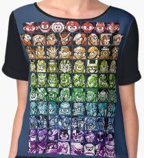 Mega Man Robot Masters Rainbow Chiffon Top