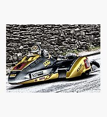 Road Racing at the TT Photographic Print