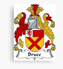 Bruce Coat of Arms / Bruce Family Crest Canvas Print