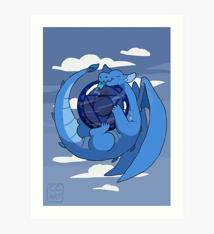Sodalite dragon Art Print