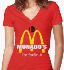 Monado's - i'm feelin it - SM4SH Women's Fitted V-Neck T-Shirt