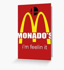 Monado's - i'm feelin it - SM4SH Greeting Card