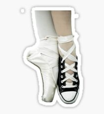 Pointe Shoe + Converse Sticker