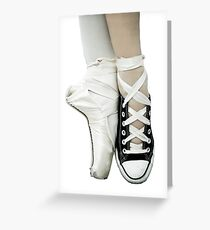 Pointe Shoe + Converse Greeting Card