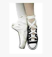 Pointe Shoe + Converse Photographic Print