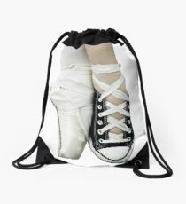 0ec436f8d7f6b0 Pointe Shoe + Converse Drawstring Bag