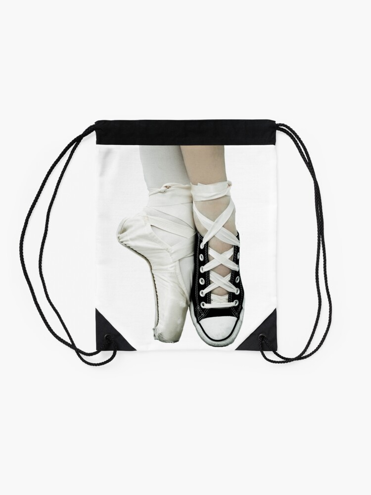 Alternate view of Pointe Shoe + Converse Drawstring Bag