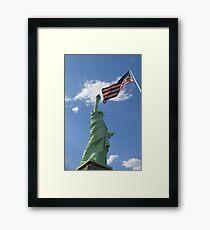 Liberty & Justice Framed Print