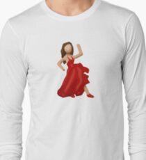 Dancer Emoji Long Sleeve T-Shirt