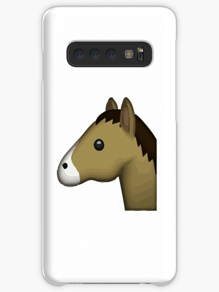 'Horse Face Emoji' Case/Skin for Samsung Galaxy by Riemann