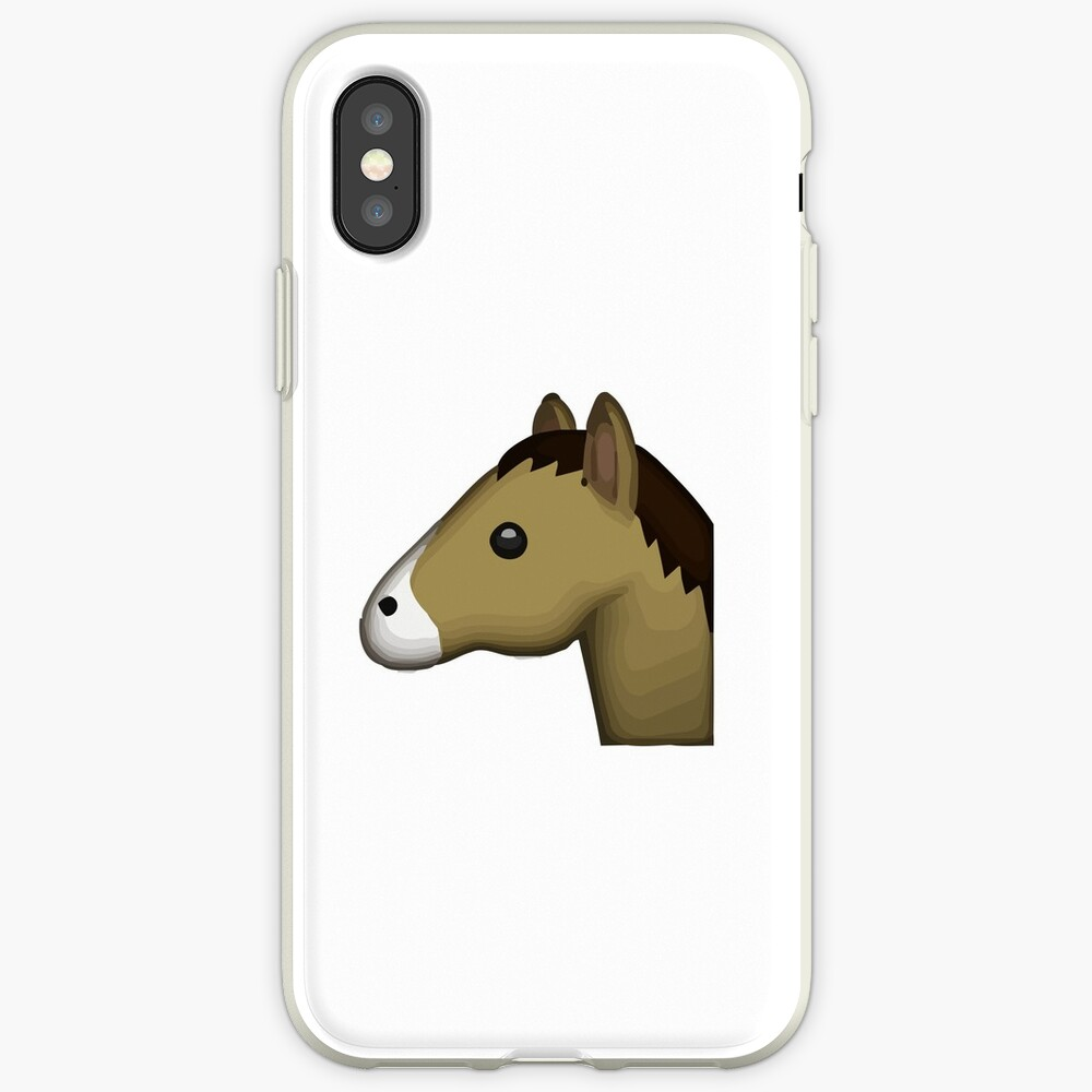 Pferdegesicht Emoji iPhone-Hülle & Cover
