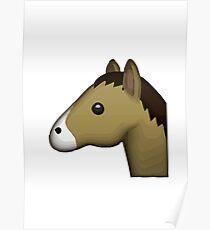 Horse Face Emoji Poster