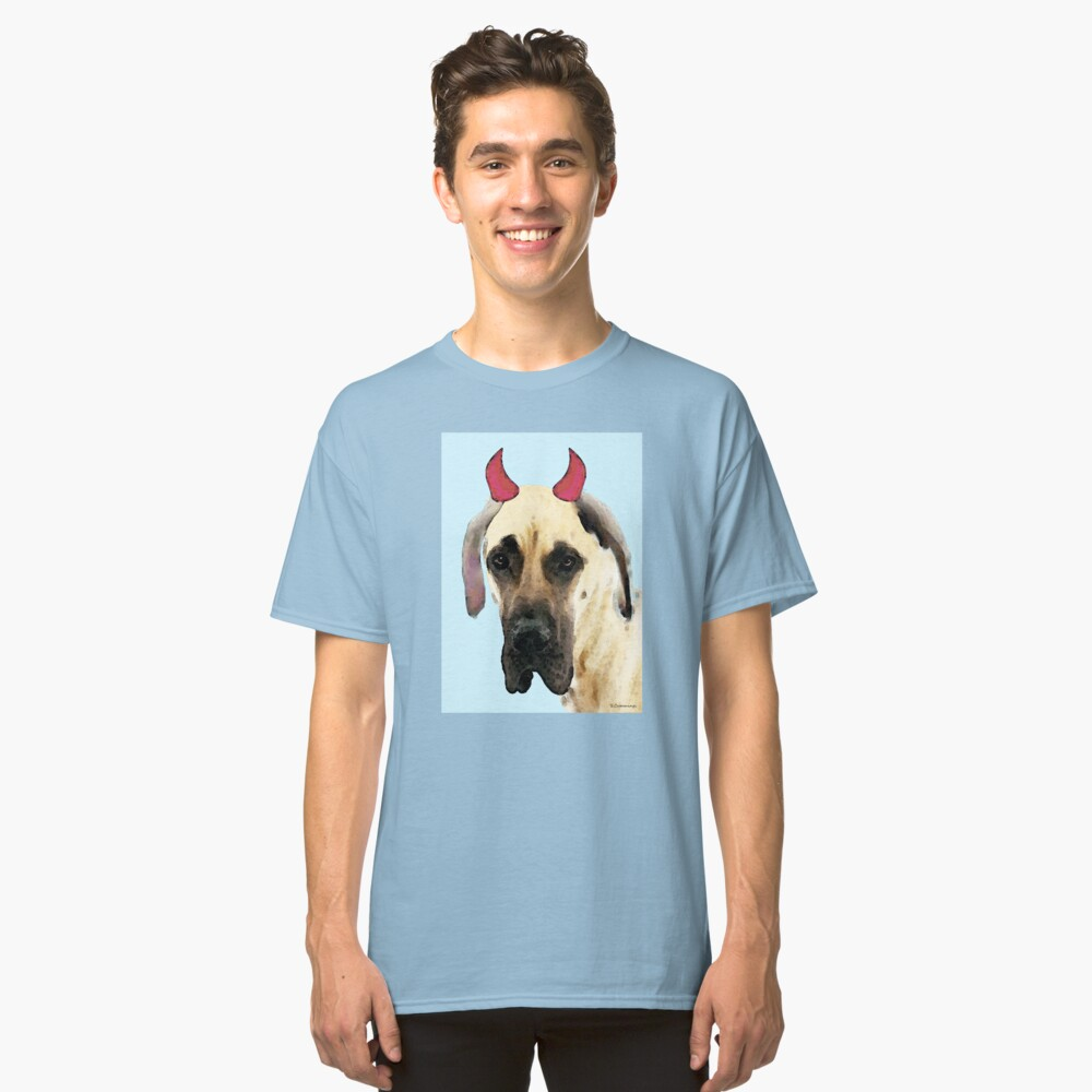Great Dane Art - Ok Maybe I Did Classic T-Shirt Front