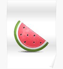 Watermelon Emoji Poster