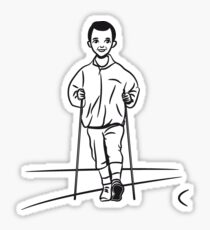 nordic walking man fun sport Sticker