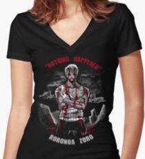 Nothing Happened Women's Fitted V-Neck T-Shirt