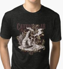 Alice In Wonderland Caterpillar Carnivale Style Tri-blend T-Shirt