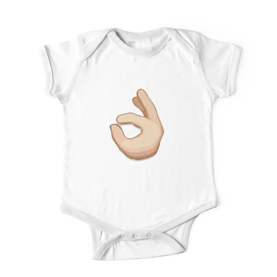 Ok hand sign emoji one piece short sleeve by riemann redbubble ok hand sign emoji by riemann biocorpaavc
