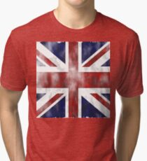 United Kingdom British flag Tri-blend T-Shirt